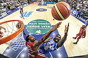DESCRIZIONE : Campionato 2014/15 Dinamo Banco di Sardegna Sassari - Olimpia EA7 Emporio Armani Milano Playoff Semifinale Gara3<br /> GIOCATORE : Shane Lawal<br /> CATEGORIA : Tiro Penetrazione Sottomano Special<br /> SQUADRA : Dinamo Banco di Sardegna Sassari<br /> EVENTO : LegaBasket Serie A Beko 2014/2015 Playoff Semifinale Gara3<br /> GARA : Dinamo Banco di Sardegna Sassari - Olimpia EA7 Emporio Armani Milano Gara4<br /> DATA : 02/06/2015<br /> SPORT : Pallacanestro <br /> AUTORE : Agenzia Ciamillo-Castoria/L.Canu