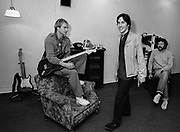 Sting -The Police with Chas Jankel and  Eric Clapton  backstage Secret Policemans Ball - 1982