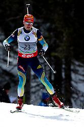 SEMENOV Serhiy of Ukraine during Men 10 km Sprint of the e.on IBU Biathlon World Cup on Thursday, March 6, 2014 in Pokljuka, Slovenia. The first e.on IBU World Cup stage is taking place in Rudno polje - Pokljuka, Slovenia until Sunday March 9, 2014. Photo by Matic Klansek Velej / Sportida