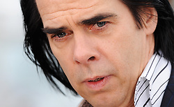 Singer Nick Cave poses during the photocall of 'Lawless' presented in competition at the 65th Cannes film festival on May 19, 2012 in Cannes. Photo by Ki Price/i-images