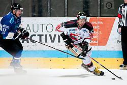02.11.2012, Hostan Arena, Znojmo, CZE, EBEL, HC Orli Znojmo vs SAPA Fehervar, 18. Runde, im Bild Attila Orban (Fehérvár #57) Richard Jarusek (Znojmo #96) // during the Erste Bank Icehockey League 18nd round match betweeen HC Orli Znojmo and SAPA Fehervar at the Hostan Arena, Znojmo, Czech Republic on 2012/11/02. EXPA Pictures © 2012, PhotoCredit: EXPA/ Rostislav Pfeffer