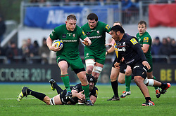 Tom Court of London Irish in possession - Photo mandatory by-line: Patrick Khachfe/JMP - Mobile: 07966 386802 03/01/2015 - SPORT - RUGBY UNION - London - Allianz Park - Saracens v London Irish - Aviva Premiership