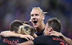 NIZHNY NOVGOROD, June 21, 2018  Players of Croatia celebrate scoring during the 2018 FIFA World Cup Group D match between Argentina and Croatia in Nizhny Novgorod, Russia, June 21, 2018. Croatia won 3-0. (Credit Image: © Chen Yichen/Xinhua via ZUMA Wire)