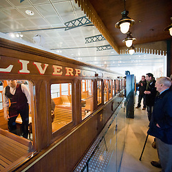 The Overhead railway  feature in the Museum of Liverpool.