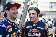 May 20-24, 2015: Monaco - Daniel Ricciardo (AUS), Red Bull-Renault, Carlos Sainz Jr. Scuderia Toro Rosso