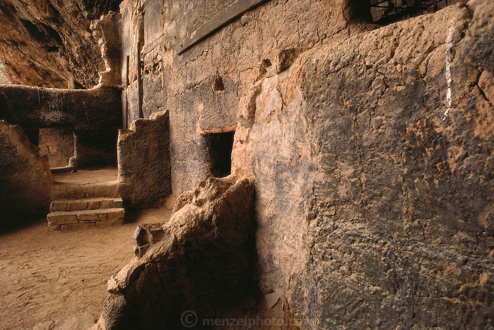 Tonto National Monument: Cliff Dwellings of Salado Indians from 1300 to 1500AD. Arizona. USA.