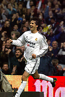 Fotball<br /> Spania 2003/2004<br /> Real Madrid vs Villarreal <br /> 24.01.2004<br /> <br /> Solari celebrates his first goal<br /> <br /> Foto: Alejandro Leon Fernandez, Digitalsport<br /> Norway Only