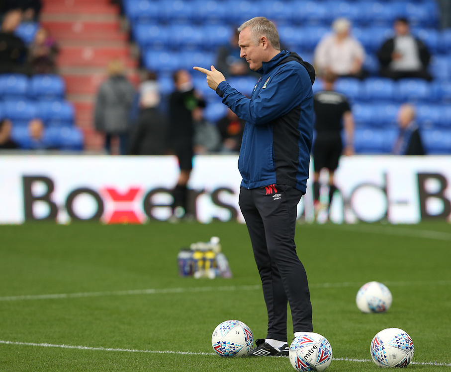 Blackburn Rovers' Assistant Manager Mark Venus during the pre-match warm-up <br /> <br /> Photographer Stephen White/CameraSport<br /> <br /> The EFL Sky Bet League One - Oldham Athletic v Blackburn Rovers - Saturday 14th October 2017 - Boundary Park - Oldham<br /> <br /> World Copyright © 2017 CameraSport. All rights reserved. 43 Linden Ave. Countesthorpe. Leicester. England. LE8 5PG - Tel: +44 (0) 116 277 4147 - admin@camerasport.com - www.camerasport.com