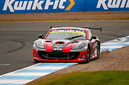 James Kell(GBR) goes wide at the hairpin and clips the gravel during the Millers Oil Ginetta GT4 Supercup Championship at Knockhill Racing Circuit, Dunfermline, Scotland on 15 September 2019.