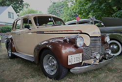 04 August 2012:  1940 Chevrolet Sedan on display at the McLean County Antique Automobile Club Show at the David Davis Mansion, Bloomington IL