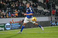 Lee Peltier (Cardiff City) during the Sky Bet Championship match between Hull City and Cardiff City at the KC Stadium, Kingston upon Hull, England on 13 January 2016. Photo by Mark P Doherty.