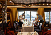 COSTA CROCIERE: sala principale per la cena e colazione buffet. the main room , saloon for a la carte  dinner and buffet breakfast. special diets reserved tables