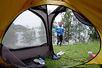Camping, view from tent