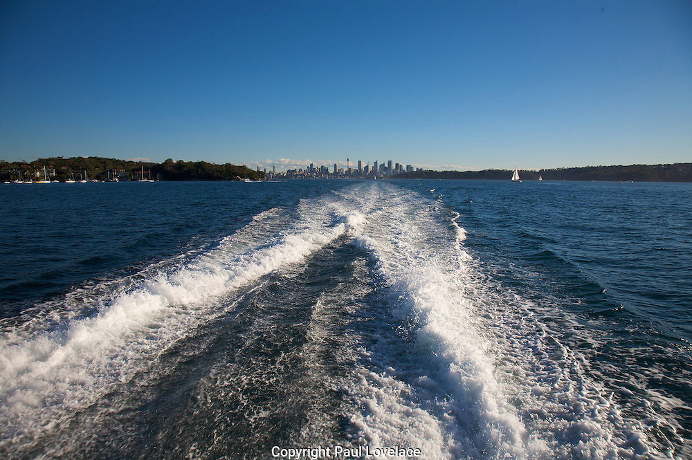 Leaving the city on the harbour