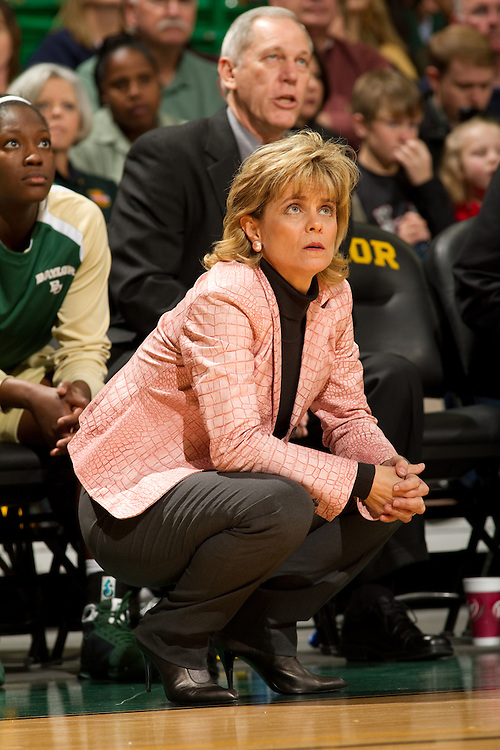 Kim Mulkey, head coach, women's basketball, Baylor University. Louisiana Tech Lady Techsters at Baylor Lady Bears. Photographed at The Ferrell Center in Waco, Texas on Saturday, December 5 2009.