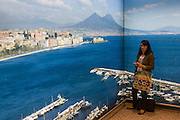 Writer Polly Morland and the Bay of Naples.