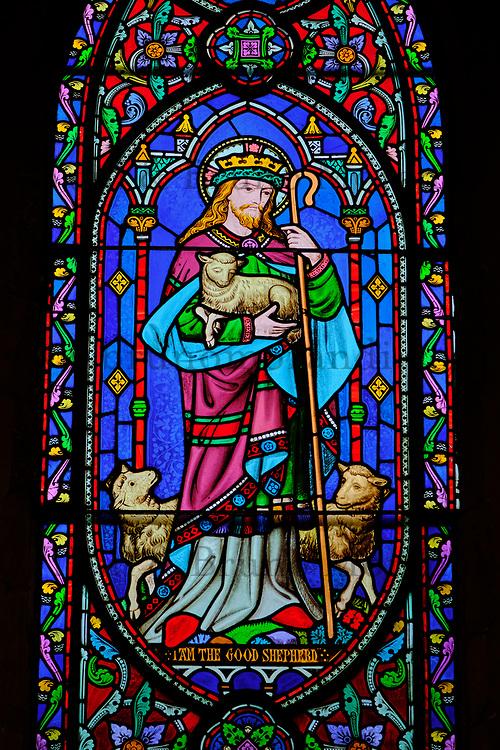 République d'Irlande, Dublin, la Cathedrale Saint Patrick, les vitraux // Republic of Ireland; Dublin, St Patrick's cathedral church is a national church of Republic of Ireland, stained glass