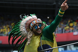 June 22, 2018 - St. Petersburg, Russia - June 22, 2018, Russia, St. Petersburg, FIFA World Cup 2018, First round, Group E, Second round, Brazil - Costa Rica at the St Petersburg stadium. Player of the national team fans; fans; spectators. (Credit Image: © Russian Look via ZUMA Wire)