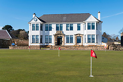 Clubhouse for Members at Gullane Golf Club in East Lothian, Scotland, United Kingdom