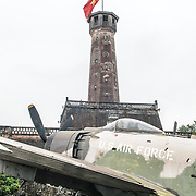 The Hanoi Flag Tribune is a centerpiece of the Vietnam Military History Museum. The tower was built in the early 19th century (1805-1812) and stands 33.5 meters tall. A 54-step spiral staircase leads to the top, where there is a small viewing room. A national flag has flown atop the tower night and day since October 10, 1954, after the defeat of the French at Dien Bien Phu. The monument has been designated by the Ministry of Culture and Information as a National Cultural and Historic Relic. The museum was opened on July 17, 1956, two years after the victory over the French at Dien Bien Phu. It is also known as the Army Museum (the Vietnamese had little in the way of naval or air forces at the time) and is located in central Hanoi in the Ba Dinh District near the Lenin Monument in Lenin Park and not far from the Ho Chi Minh Mausoleum.