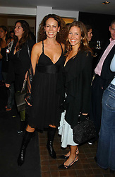 Left to right, ANDREA DELLAL and EMILY CASH who was married to tennis player Pat Cash at a party to celebrate the opening of an exhibition of photographs by the late Norman Parkinson held at Hamiltons gallery, 13 Carlos Place, London W1 on 14th September 2004.<br /><br />NON EXCLUSIVE - WORLD RIGHTS