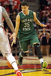 04 December 2013:  Clarke Rosenberg during an NCAA  mens basketball game between the Cougars of Chicago State and the Illinois State Redbirds  in Redbird Arena, Normal IL