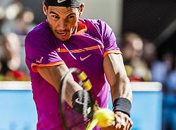 May 13, 2017 - Madrid, Madrid, Spain - RAFAEL NADAL (ESP) returns the ball to Novak Djokovic (SRB) in the semi-final of the 'Mutua Madrid Open' 2017. Nadal won 6:2, 6:4 (Credit Image: © Matthias Oesterle via ZUMA Wire)