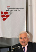 Federico Castellucci, Director General of OIV Organisation International de la Vigne et du Vin, The International Organisation of Vine and Wine, and also wine maker in Italy, in the offices at the OIV in Paris