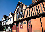Half timbered Tudor buildings, Silent Street, Ipswich, Suffolk, England