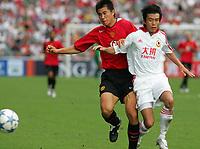 Hong Kong 23/07/05 Hong Kong XI v Manchester United (0-2) <br />DONG FANGZHUO  (MANCHESTER UNITED)<br />PHOTO FOTOSPORTS INTERNATIONAL/OSPORTS