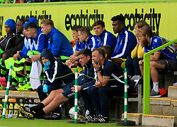 Bristol Rovers manager Darrell Clarke watches the action from the bench - Mandatory by-line: Paul Roberts/JMP - 22/07/2017 - FOOTBALL - New Lawn Stadium - Nailsworth, England - Forest Green Rovers v Bristol Rovers - Pre-season friendly