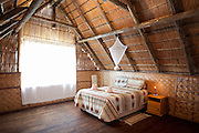 Accomodation at the Mbiroba camp in Seronga, Botswana. The camp is run by the Polers Trust, a community initiative for tourism.