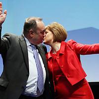 Alex Salmond and  Nicola Sturgeon close the Scottish National Party Conference Photograph David Cheskin