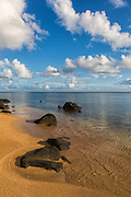 Vertical Stock Photo of Anini Beach of Kauai Hawaii
