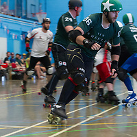 New Wheeled Order take on Lincolnshire Rolling Thunder at Salford University Sports Hall, Greater Manchester, 2018-07-14