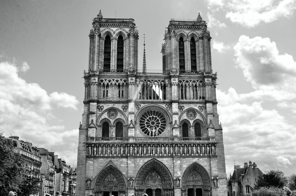 Another shot of the Notre Dame in Paris, France