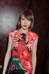 ELLA CATLIFFE at the ZEO 'Just January' Party held at the Buddha Bar, 145 Knightsbridge, London SW1 on 31st January 2013.