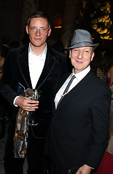 Left to right, Designer GILES DEACON and milliner STEPHEN JONES  at the 2005 British Fashion Awards held at The V&A museum, London on 10th November 2005.<br /><br />NON EXCLUSIVE - WORLD RIGHTS