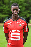 Adama Diakhaby of Rennes during the official photocall of the Stade Rennais Team on September 12, 2016 in Rennes, France. (Photo by Andre Ferreira/Icon Sport)