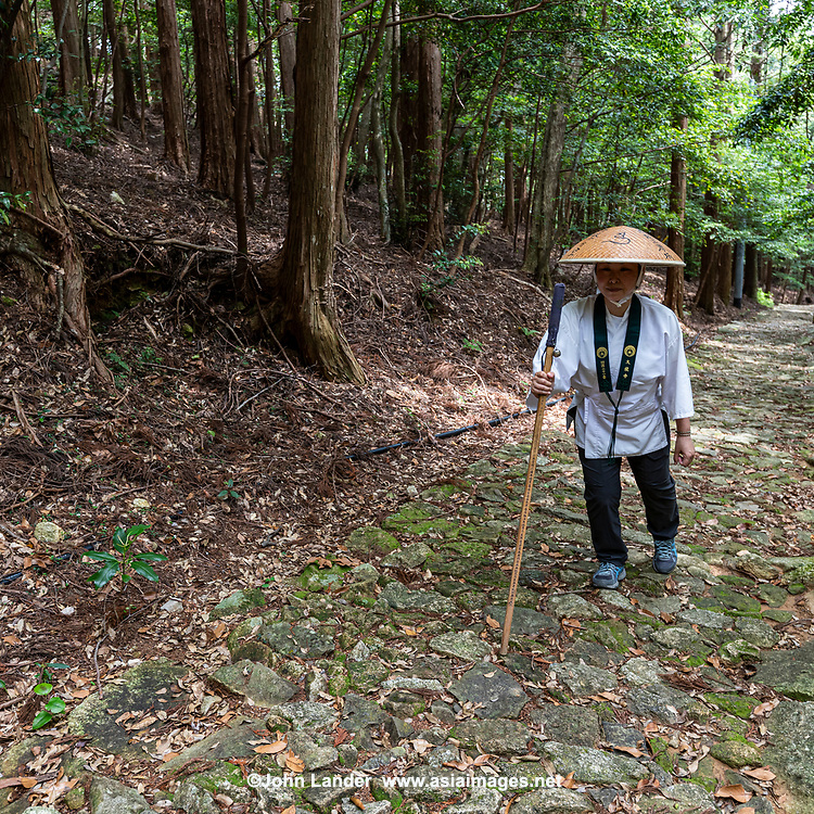 """The Shikoku pilgrimage route is one of the few circular-shaped pilgrimages in the world. It includes 88 official temples and numerous other sacred sites asscoaited with Kobo Daishi. Walking henro pilgrims take some 6 weeks to complete the journey - the entire route is about 1200 kilometers long which allows one to experience the natural surroundings of Shikoku and presents pilgrims with numerous opportunities to mix with the local people. Henro pilgrims undertake this trip for various reasons but the most underlying one is to """"walk with Kobo Daishi"""" as it is believed that Kukai is accompanying them on this journey."""
