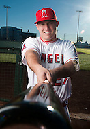 Mike Trout poses during the Angels' Photo Day at Spring Training in Tempe, AZ on Tuesday, February 21, 2017. (Photo by Kevin Sullivan, Orange County Register/SCNG)