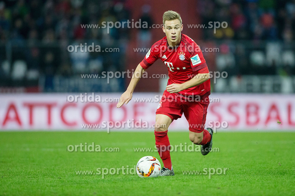 16.01.2016, Wildparkstadion, Karlsruhe, GER, Testspiel, Karlsruher SC vs FC Bayern Muenchen, im Bild Joshua Kimmich (FC Bayern Muenchen) mit Ball // during a preperation Football Match between Karlsruher SC and FC Bayern Munich at the Wildparkstadion in Karlsruhe, Germany on 2016/01/16. EXPA Pictures © 2016, PhotoCredit: EXPA/ Eibner-Pressefoto/ Neis<br /> <br /> *****ATTENTION - OUT of GER*****