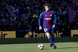 December 2, 2017 - Barcelona, Catalonia, Spain - Sergi Roberto during the spanih league match between FC Barcelona and RC Celta de Vigo at the Camp Nou Stadium in Barcelona, Catalonia, Spain  (Credit Image: © Miquel Llop/NurPhoto via ZUMA Press)