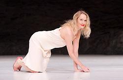 Tanztheater Wuppertal Pina Bausch <br /> 'Masurca Fogo' <br /> at Sadler's Wells, London, Great Britain <br /> rehearsals<br /> 8th February 2017 <br /> <br /> Tanztheater Wuppertal Pina Bausch: Masurca Fogo<br /> Julie Shanahan<br /> Masurca Fogo, created by the endlessly inventive Pina Bausch, returns to Sadler's Wells from 9 - 12 February 2017. The piece is performed by the legendary Tanztheater Wuppertal Pina Bausch, a Sadler's Wells International Associate Company.<br /> <br /> <br /> <br /> <br /> Performers:<br /> Regina Advento, Pablo Aran Gimeno, Emma Barrowman, Rainer Behr, Andrey Berezin, Michael Carter, Çağdaş Ermis, Silvia Farias Heredia, Jonathan Fredrickson, Ditta Miranda Jasjfi, Daphnis Kokkinos, Cristiana Morganti, Breanna O'Mara, Nazareth Panadero, Julie Shanahan, Oleg Stepanov, Julian Stierle, Fernando Suels Mendoza, Aida Vainieri, Ophelia Young.<br /> <br /> Photograph by Elliott Franks <br /> Image licensed to Elliott Franks Photography Services