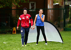 Bristol Sport and Bristol Energy launch their partnership at Millpond School with help from Jas Matthews of Bristol City Women - Mandatory by-line: Robbie Stephenson/JMP - 09/10/2017 - SPORT - Millpond School - Bristol, England - Bristol Sport and Bristol Energy Partnership Launch
