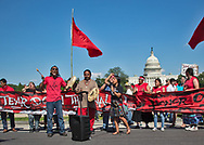 Nathan Phillips, Native American drummer in Washington DC at the Red Line Action in Washington DC the day before the Climate March in 2017.