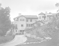 1925 East elevation and swimming pool entrance at 1847 Camino Palmero