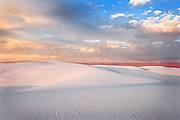 sunset in White Sands Monument NM