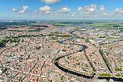 Nederland, Noord-Holland, Haarlem, 01-08-2016; overzicht binnenstad Haarlem met Grote of Sint Bavokerk in het centrum vanuit het zuiden. <br /> Overview Haarlem city.<br /> <br /> luchtfoto (toeslag op standard tarieven);<br /> aerial photo (additional fee required);<br /> copyright foto/photo Siebe Swart