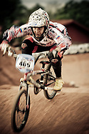 Stefany Hernandez (VEN) at the practice round of the UCI BMX Supercross World Cup, Pietermaritzburg, 2011